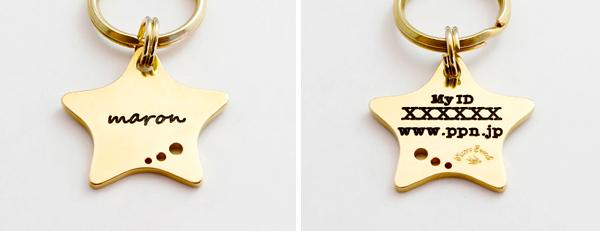 真鍮迷子札 Star